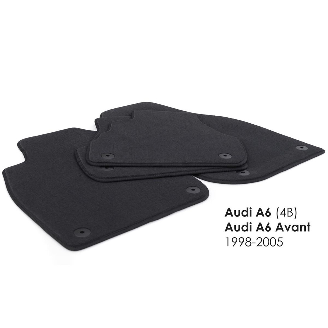 Auto Gummi Fußmatten  AUDI A6  Set 4 teilig Schwarz Art.3