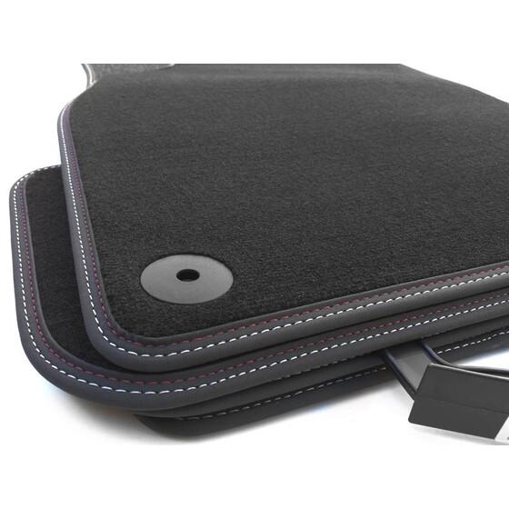 audi a6 fu matten original premium silber. Black Bedroom Furniture Sets. Home Design Ideas