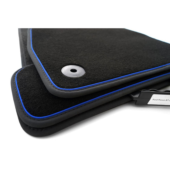 ford focus rs st fu matten premium mit blauem band. Black Bedroom Furniture Sets. Home Design Ideas