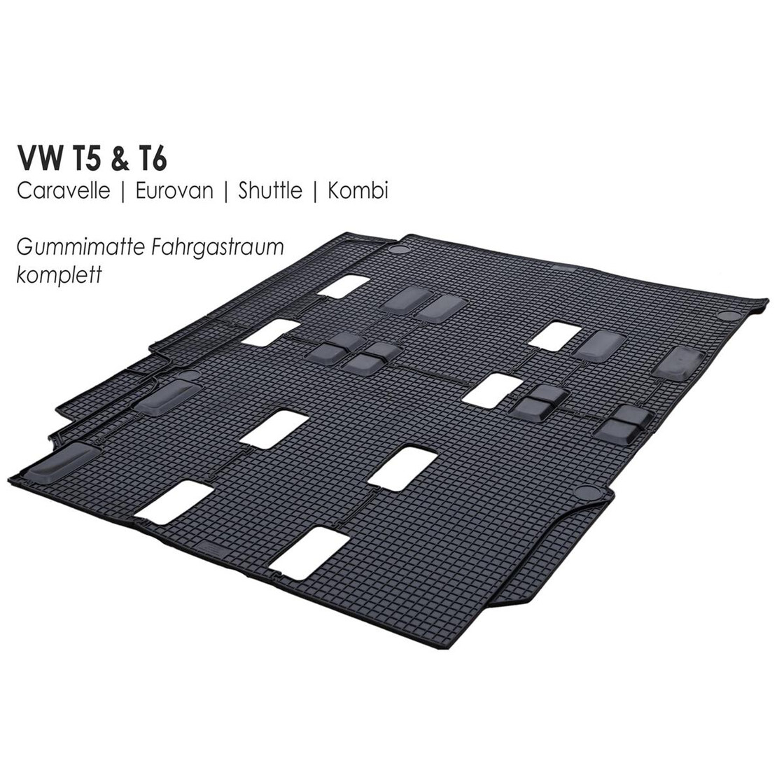 vw t5 t6 gummi fu matte fahrgastraum original kaufen. Black Bedroom Furniture Sets. Home Design Ideas