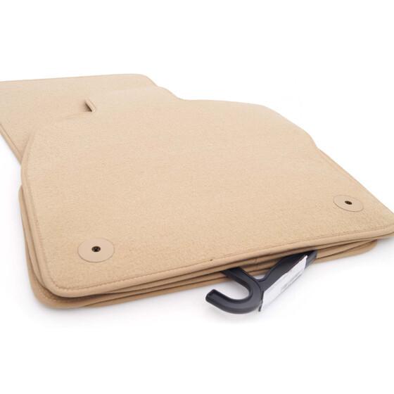 fu matten vw golf 7 vii autoteppich beige. Black Bedroom Furniture Sets. Home Design Ideas