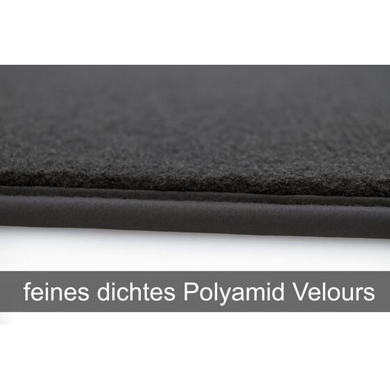 Velours Edition silber Fußmatten für Mercedes CLC 203 CL203 ab Bj.2001-2011