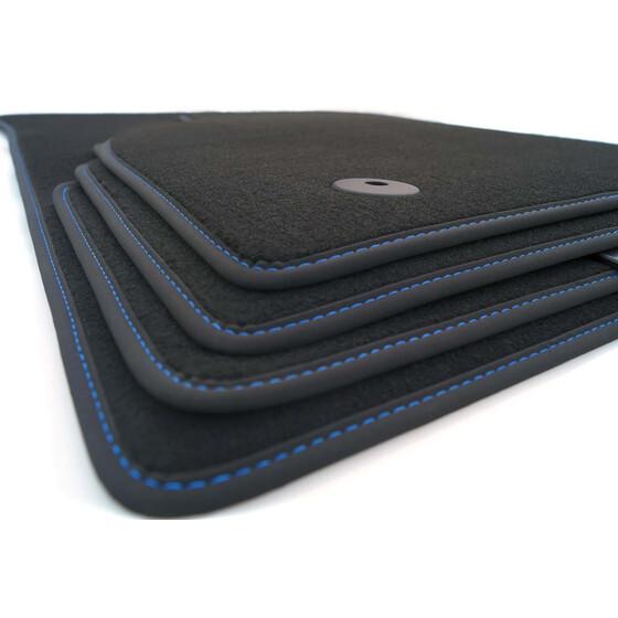 fu matten seat ibiza 6f original blaue ziernaht. Black Bedroom Furniture Sets. Home Design Ideas