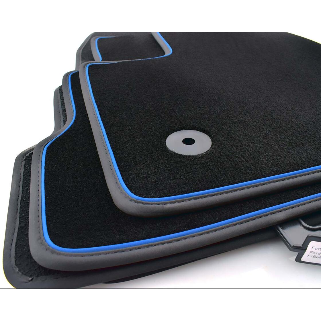 ford kuga ii 2017 fu matten autoteppich zierband blau. Black Bedroom Furniture Sets. Home Design Ideas