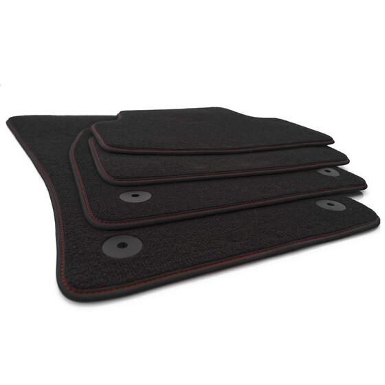skoda fabia 2 fu matten premium automatten rote ziernaht. Black Bedroom Furniture Sets. Home Design Ideas