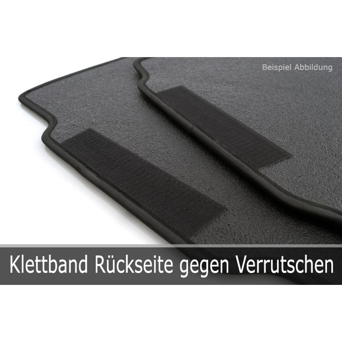 Velour Fußmatten Passend für Nissan Micra 3 K12 2002-2010 - Anthrazit 4tlg 2u