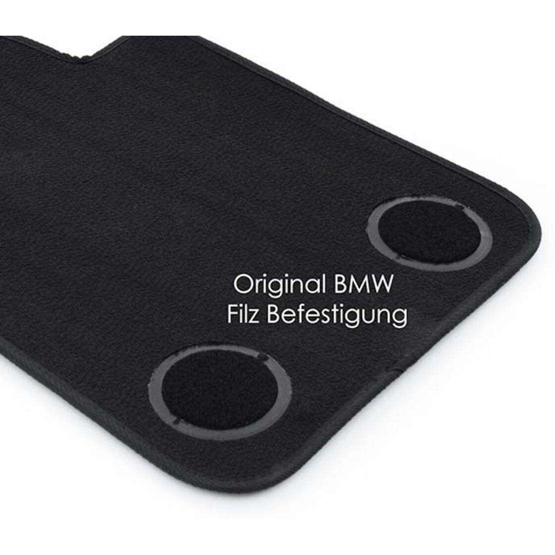 Velours Original Qualität Automatten 4-teilig schwarz F15 Fußmatten BMW X5