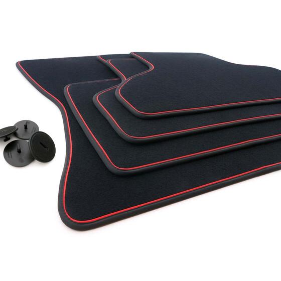 Autoteppiche Automatten F15 PREMIUM Velours-Fußmatten für BMW X5 ab 2013