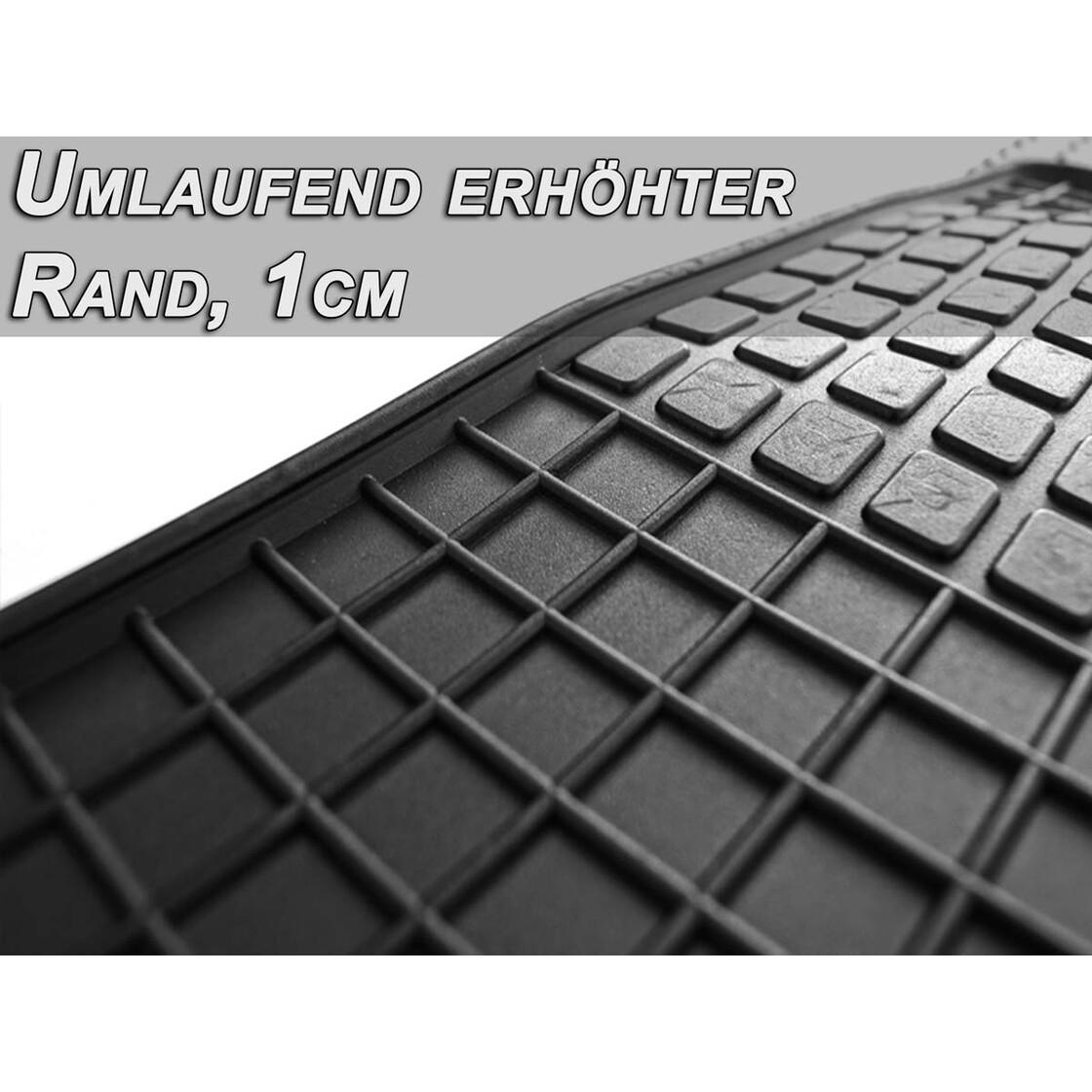 ab 2009 - Anthrazit Nadelfilz 4tlg citr clips Auto Fußmatten Citroen C-Zero