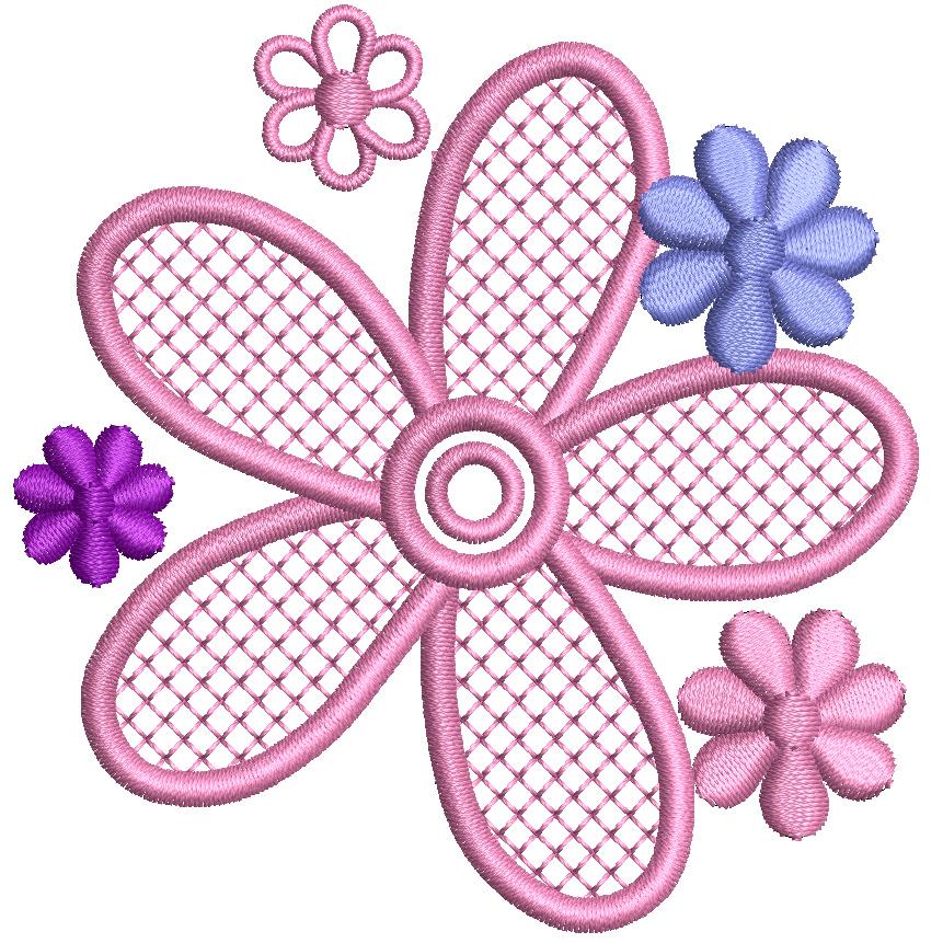 Beschickungsmotiv Blume für Fußmatten (kh-teile.de)