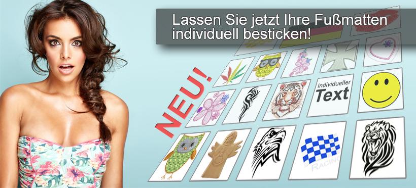 Fu�matten besticken lassen bei khteile.de
